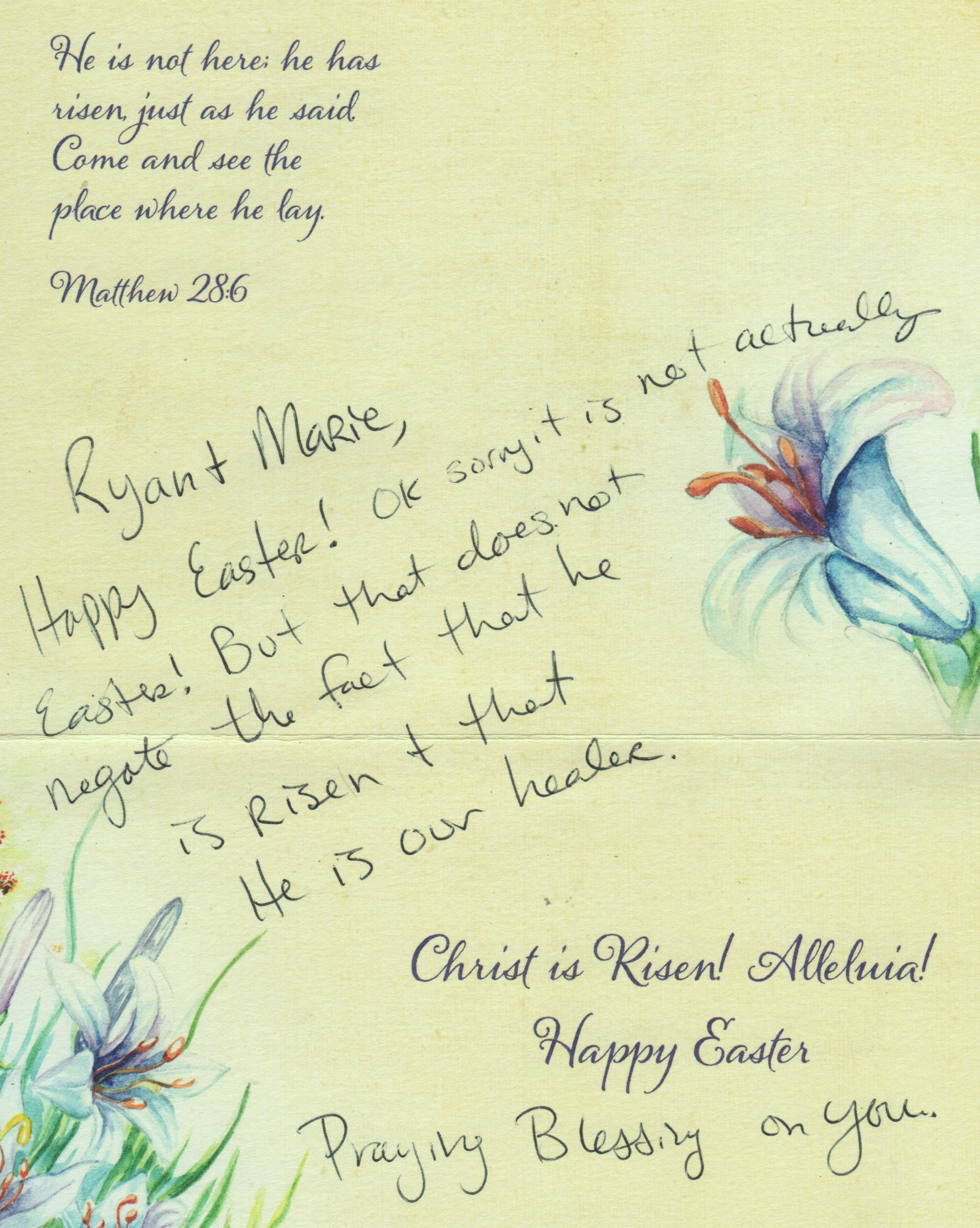samaritan easter note